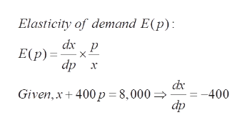 Answered Suppose That A Price P And Demand X Are Bartleby