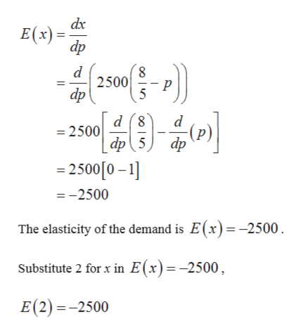 Answered Consider The Price Demand Equation Bartleby