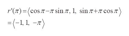 r'()cos T- sin7+7 cos T sin 7, 1, (-1, 1-