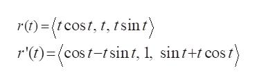 r)(tcost, , tsint) r't)cos-sin/, , sint+tcost