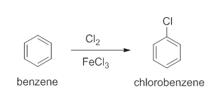 CI Cl2 FeCl3 chlorobenzene benzene