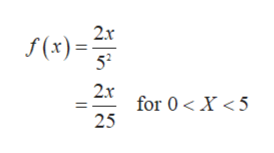 2x f(x) 52 2x for 0X <5 25