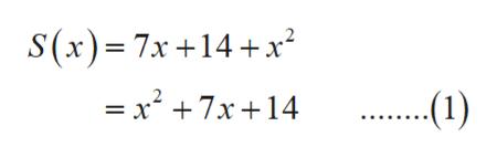 S(x)= 7x +14 x2 = x 7x 14 ...1)