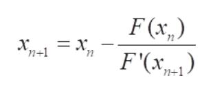 F(x ,) х, — х, 'n+1 F'(x п п-1