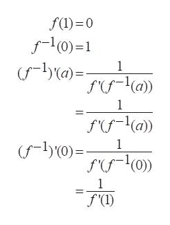 f(l) 0 1 (a)= 1 f(fa)) 1 1 f'(I)