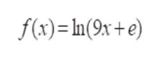 f(x)In(9x+e)