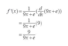 1 f(x)9x+edr e) 1 (9) 9x e 9 9x e