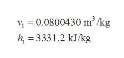 0.0800430 m /kg h 3331.2 kJ/kg