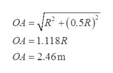 R2(0.5R OA= OA 1.118R OA 2.46m