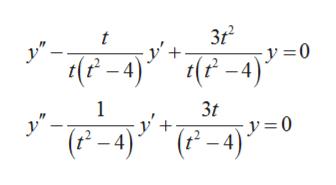 t -y'+ y0 (P-4)(4) 1 3t y=0 ( -4)*