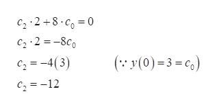C22 8 0 C2 2-8c ( y(0)3=c) c2=-4(3) c212