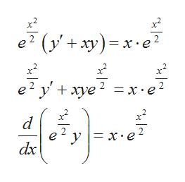 e? (у'+ ху) — х:е? x2 х e? у+ хуе ? %3Dх-е? 2 d e у 3 х:е dx