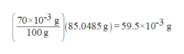 "70x10g85.0485 g)=59.5x10"" g 100g"