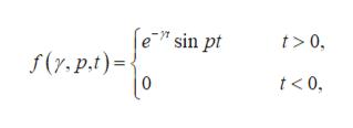 "e"" sin pt t> 0 f(y,p.t) 0 t<0"