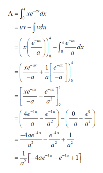 A-ve w-/vdu -COx xedx =uv -dx 0a -a 4 -ax 1 хе -a -a -ax -ax хе 2. a -a 0 -4a 0 4ea e a2 -a -a -4a e -4ae a2 -4a + a2 a2 +1] e -4 a -4ae