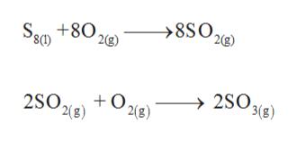 >8SO 2g) S8 +80, 2g) 2SO3(8) 2(B) 2(8)
