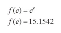 f(e) e f(e) 15.1542
