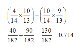 10 9 4 10 14 13 14 13 40 90 130 =0.714 182 182 182