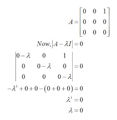 0 0 1 A 0 0 0 0 0 0 Now, A-AI0 0-2 0 2 0 1 =0 0 0 0 A 0 0 -0+0(0+0+0) = 0