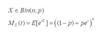 "ХЕ Вiт(п. p) M,0) - Ele* 1-(1- р)+ pе')"""