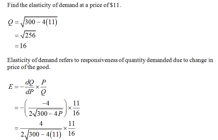 Answered Given The Demand Function D P 300 4p Bartleby