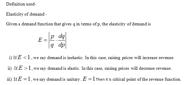 Answered 175 Given The Demand Function D P Find Bartleby