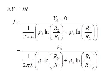 AV IR V-0 I = 1 p, In R P, In 2πL R 1 PIn 2TL