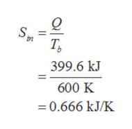 о Т, 399.6 kJ 600 K 0.666 kJ/K