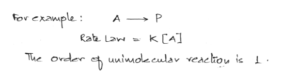 For exawple: A P K CA] Rate Lan uuinoleculav veacliou is The order