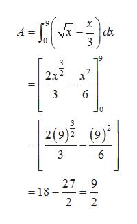 dx 3 A = 2x2 3 6 0 2(9) 3 6 27 9 18- 2 2 en l
