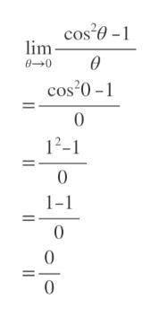 cos'e- lim 00 cos 0- 0 12-1 0 1-1 0