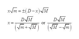 xm=(D-x)M D M D M or (Vm+M