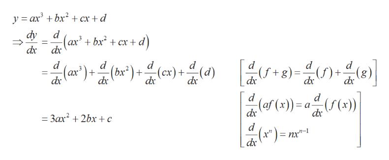 "y axbx cx + d dy d -(ax + bx2 + cx+ d dx 3 -띠 버음미음이 [ -9-습0금미 d d + dx d d d (ax) (bx*) (cx)+ dx dx dx dx dx dx d d (af (x)) a((x)) dx dx 3ax 2bx ¢ d nx""-1"