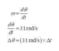 de w= dt de =31rad/s dt Ae-(31 rad/s)x Ar