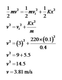 1 2 2 2 m 220x (0.1) v(3) 0.4 v29+5.5 v2-14.5 v 3.81 m/s