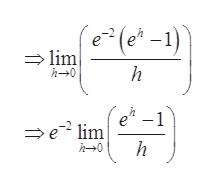 (e-1) lim h h 0 (e-1 e lim h h0