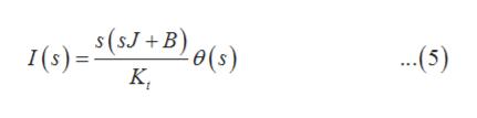 s(5J+B) ..(5) e(s) I(s)
