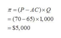 п 3 (Р-АС)x0 — (70-65) х1,000 $5,000