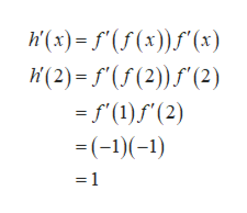(x)(x)() (2) f(f(2)(2) )f'( =f'(1)f(2) =(-1) (-1) =1
