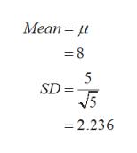 Меan %3D M =8 5 SD V5 2.236