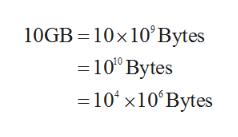 10GB 10x 10'Bytes 100 Bytes 10 x10 Bytes