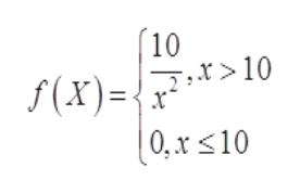 10 :> 10 7,X f(x)= x (0,x<10