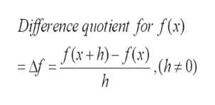 Difference quotient for f(x) f(x+)(x(h0)