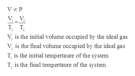 V V Т, т, 1 V is the initial volume occupied by the ideal gas V is the final volume occupied by the ideal gas T, is the initial tempertaure of the system T is the final tempertaure of the system