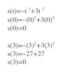 s(t)-t3+3t2 s(0)=-(0)+3(0) s(0) 0 s(3)-(3)+3(3) s(3)-27+27 s(3)-0