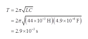 T 2TLC 27(44x103 H(4.9x 10 F) 2.9x10 s