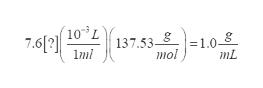 74 103 L 137.53 1.08 mol 1mi mL