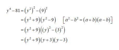 1-()(9 - (у -9)(-9) [a - - (у*+9 ()) - ()°) - (а-b)(а-b] - (у*+9)(у+3)(у-3)