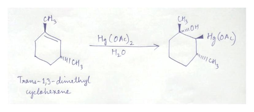 Ha COad) 2 H2O Trans-1,3-dumethyl yelaherene