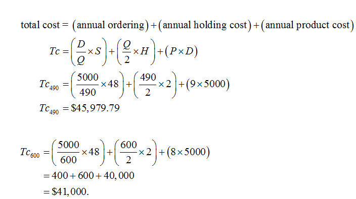 Operations Management homework question answer, step 3, image 1